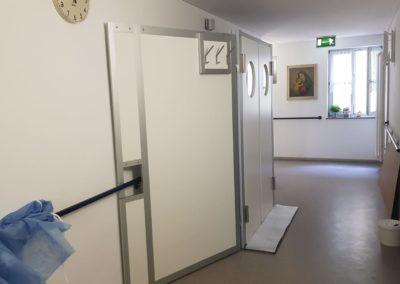 Schleuse vor Krankenhauszimmer